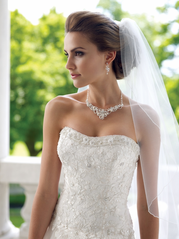 Wedding Bridal Or Prom Necklace Earrings W Rhinestones Set Ebay