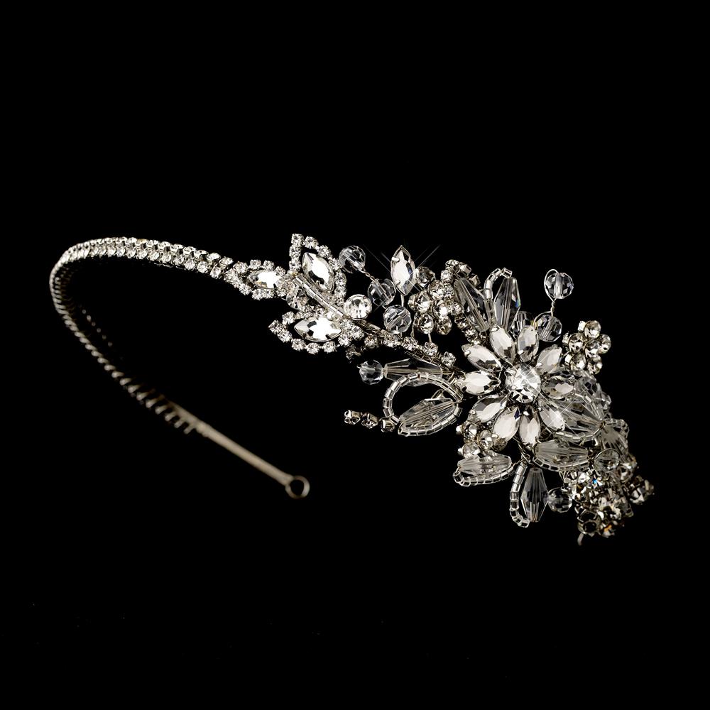 Click Anywhere On Page To Minimize Wedding Bridal Crystal Headband