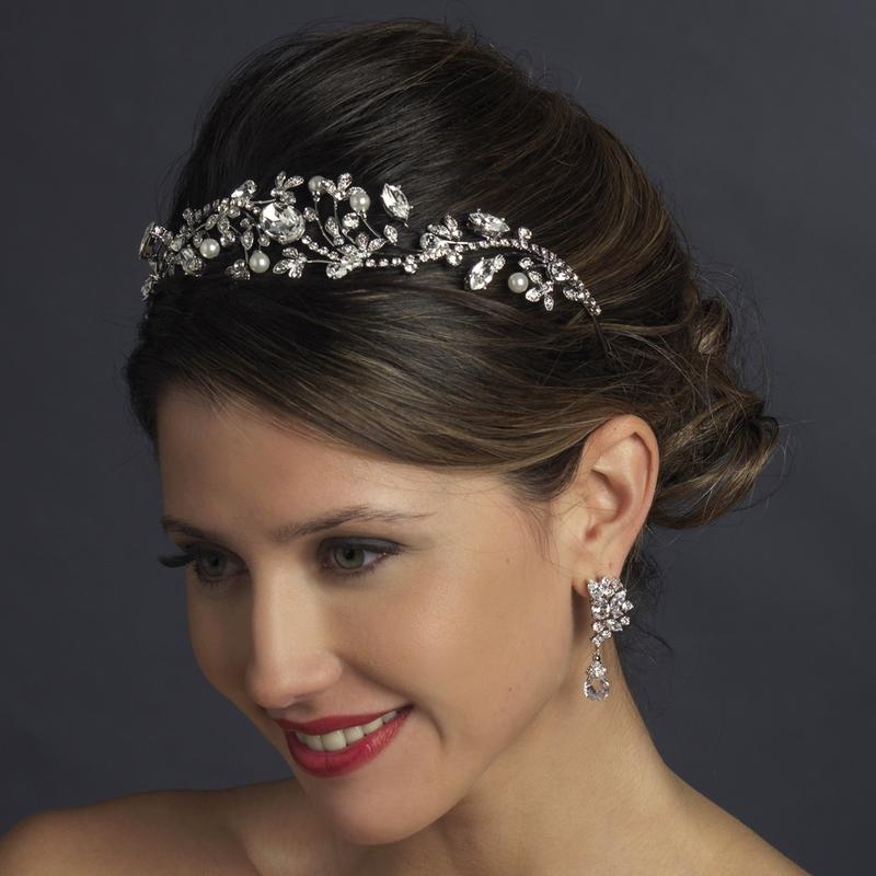SWAROVSKI CRYSTAL   RHINESTONE VINTAGE STYLE - BRIDAL WEDDING CROWN TIARA 3768120b69d