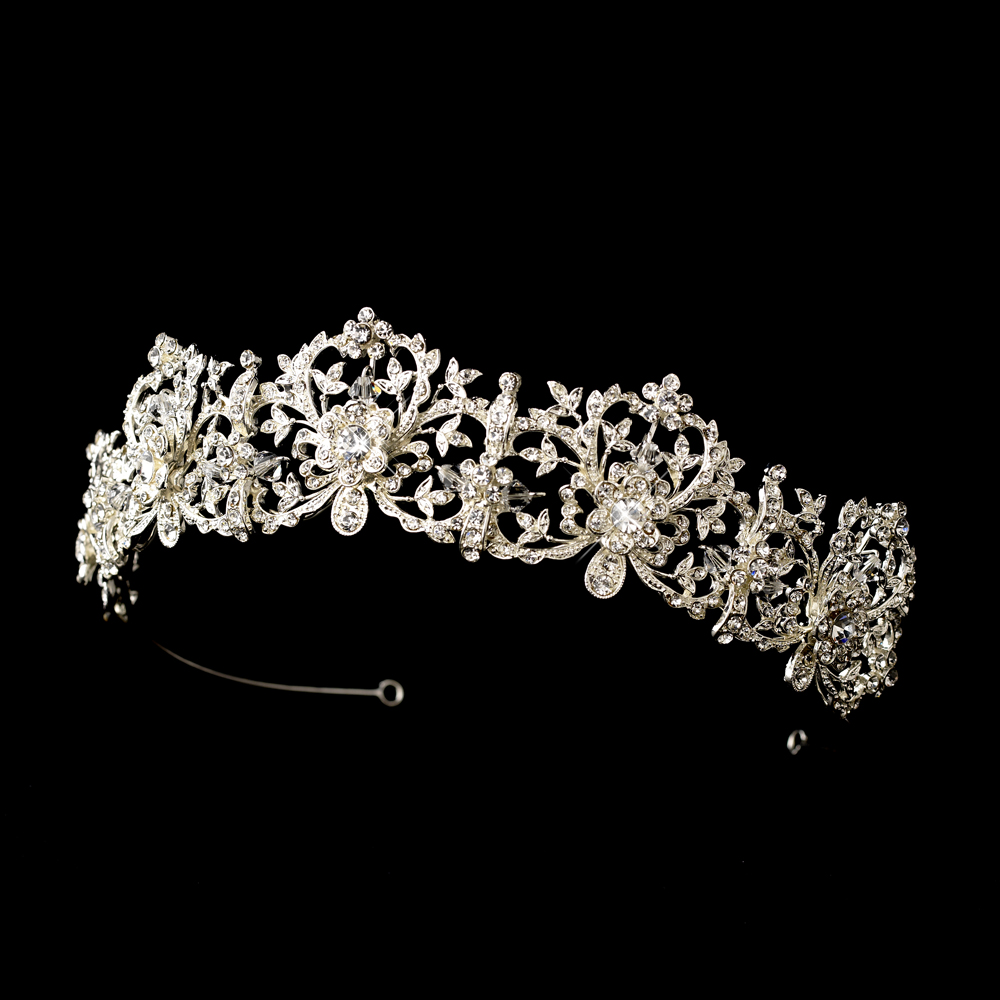 Incredible Royal Bridal Tiara Silver Amp Sparkling Rhinestone Tiara Crown Hairstyles For Women Draintrainus