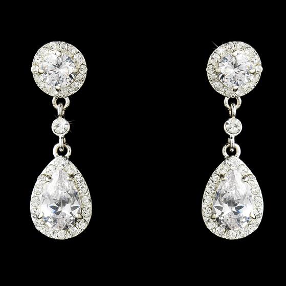 Bridal Earrings Crystal Cubic Zirconia Drop Dangle Wedding Jewelry